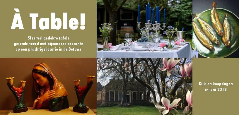 Evenement À Table op 8 en 9 juni